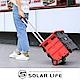 魔方鋁製三段式拉桿收納購物車33L/大容量附蓋/摺疊座椅 置物箱 買菜車 product thumbnail 2