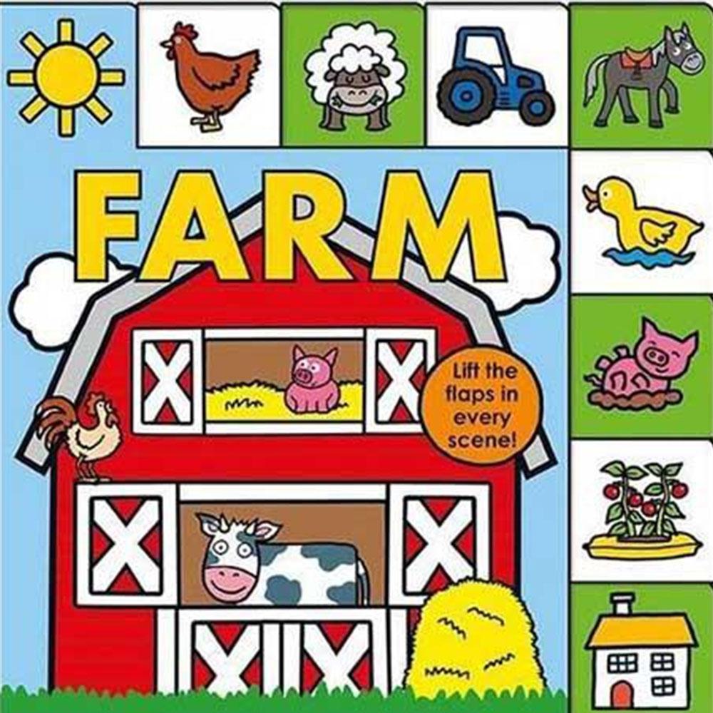 Lift-The-Flap Tab:Farm 森林農場硬頁翻翻操作書(英國版)