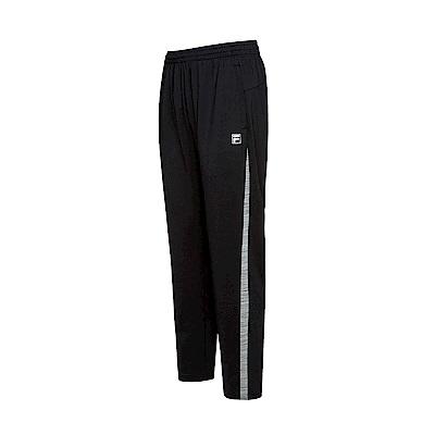 FILA 男款抗UV吸濕排汗針織長褲-黑 1PNS-5305-BK