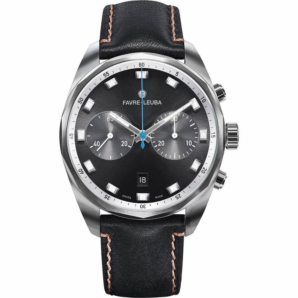 Favre-Leuba 域峰錶 Sky Chief Chronograph 雙眼魅時機械計時手錶