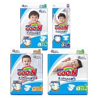 GOO.N日本大王 日本境內版-黏貼型紙尿褲x4包/箱-透氣舒柔(尺寸可選)