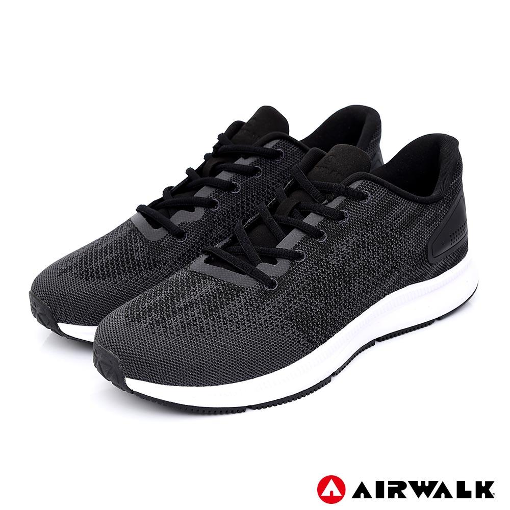 【AIRWALK】城市驛動編織鞋-男款-黑色