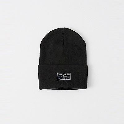 A&F 經典標誌舒適保暖毛帽-黑色 AF Abercrombie