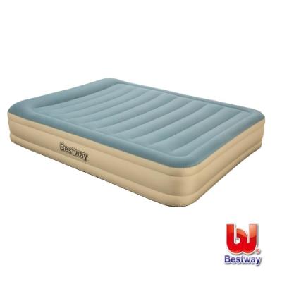 凡太奇 Bestway Queen雙人耐用款AC自動充氣床-藍米 69008E