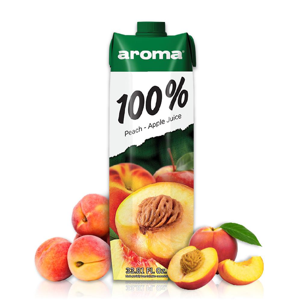 699免運土耳其AROMA水蜜桃蘋果汁1000ml