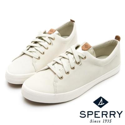 SPERRY 奢華經典真皮休閒鞋(女)-象牙白