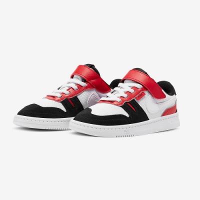 NIKE  中童 童鞋 魔鬼氈  休閒鞋 運動鞋 黑白紅 CJ4120101 Squash-Type