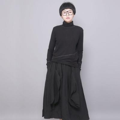 設計所在Style-個性時尚高腰寬鬆顯瘦休閒中長裙