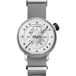 BOMBERG 炸彈錶 BB-01 米蘭帶手錶-銀白/43mm