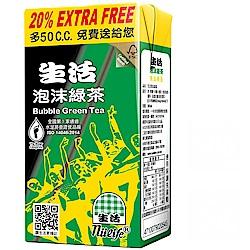 生活泡沫綠茶300ccX6入