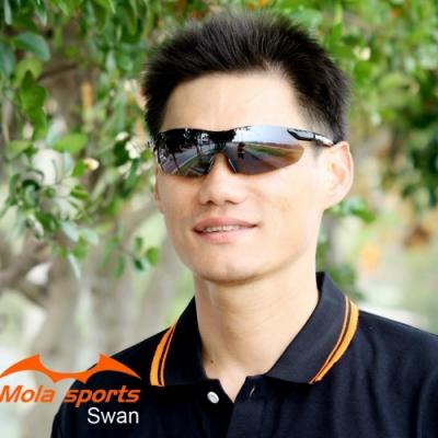 MOLA摩拉運動太陽眼鏡 超輕量 男女 跑步/高爾夫/自行車- Swan_Blb