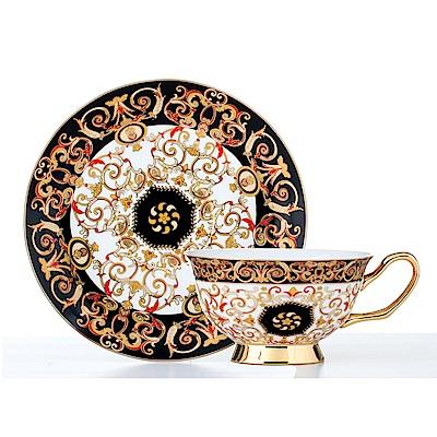 Royal Duke骨瓷咖啡杯碟組-黃金杜拜(二杯二碟)