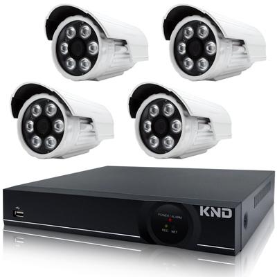 奇巧 4路AHD正1080P台製單硬碟款主機-含SONY 200萬攝影機x4