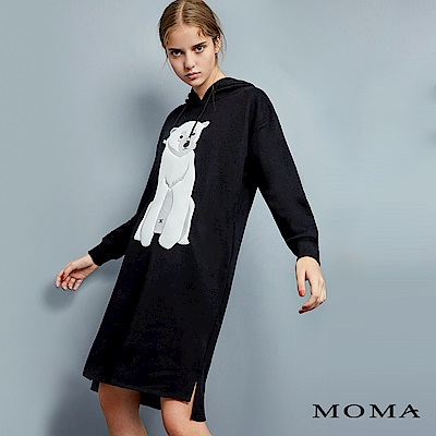 MOMA 電繡北極熊長版衛衣