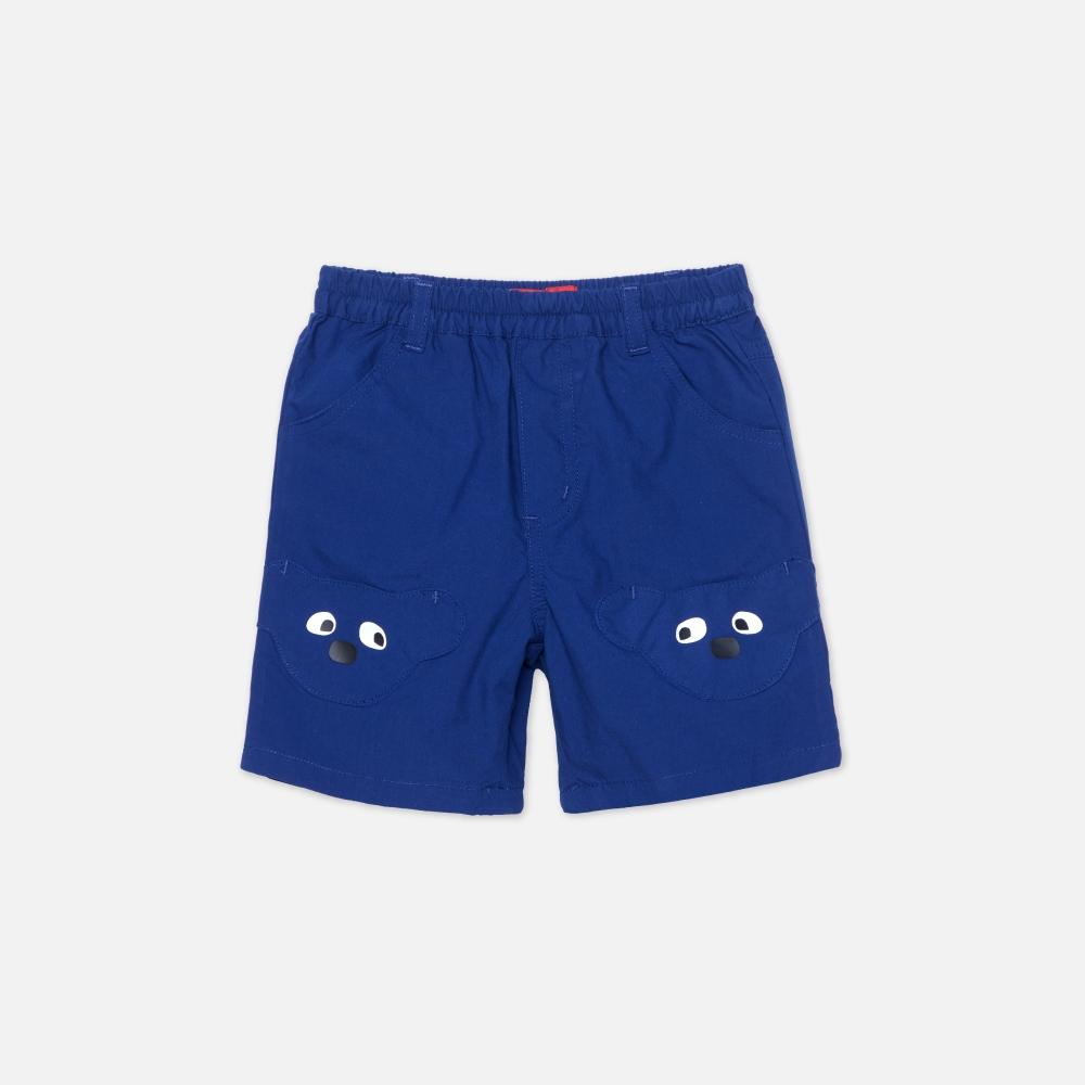WHY AND 1/2 mini 棉質平織短褲 多色可選 1Y ~ 4Y (深藍)