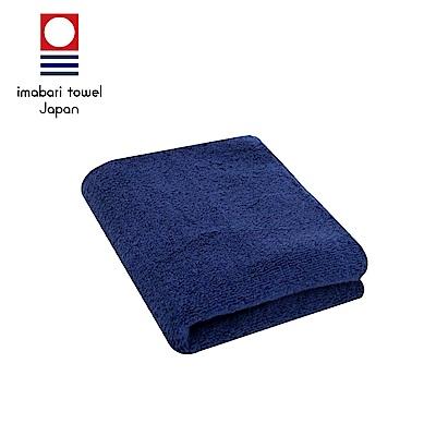 日本今治 輕柔蓬鬆無撚紗素色毛巾(深海藍)