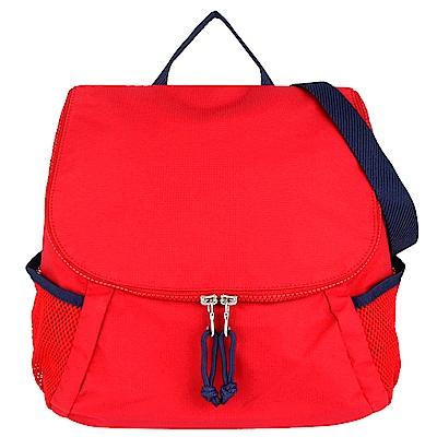 agnes b. voyage 紅色尼龍布網袋手提兩用斜背包