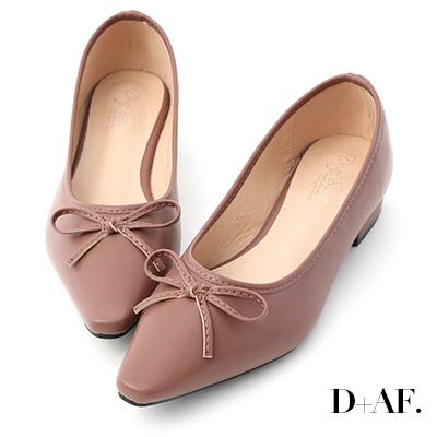 D+AF 春日繽紛.蝴蝶結尖頭低跟娃娃鞋*紫