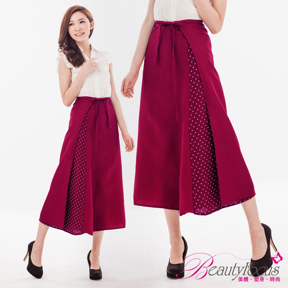 BeautyFocus UPF50+時尚A字抗UV防曬裙(紅色)