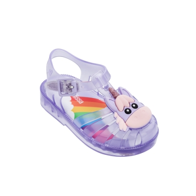 Melissa 獨角獸造型漁夫鞋(寶寶款)-果凍紫