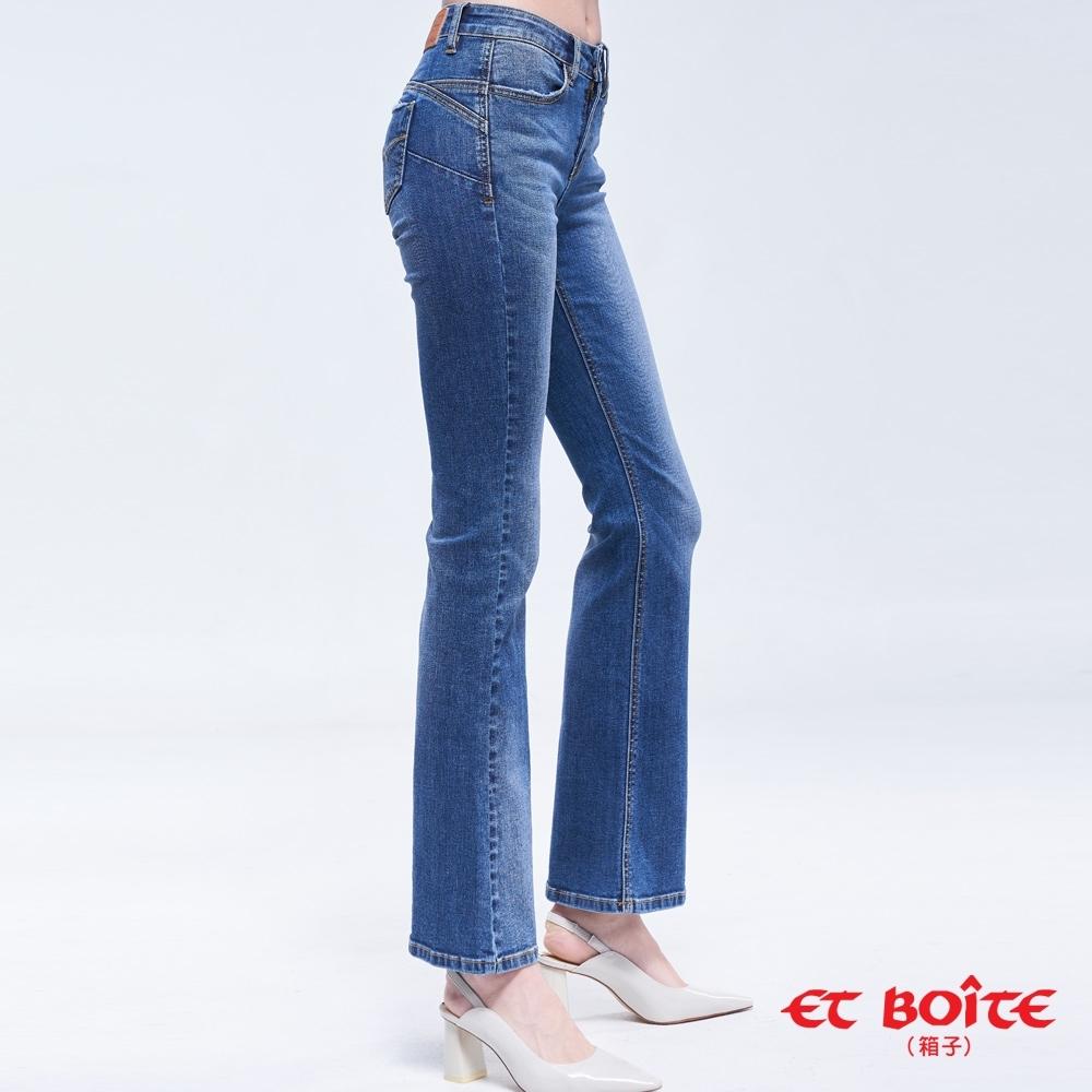 ET BOîTE 箱子 BLUE WAY –弧線翹臀高腰靴型褲