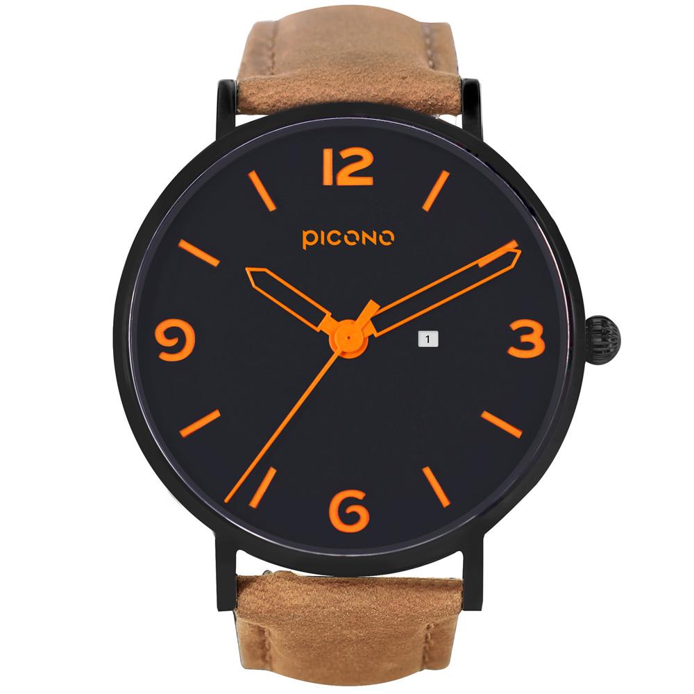PICONO Teen系列 簡約時尚瘋馬皮錶帶中性錶 / AR-6702