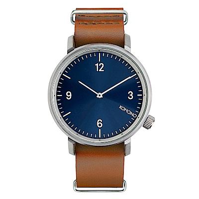 KOMONO Magnes ll馬格斯二世系列手錶-水手藍45mm