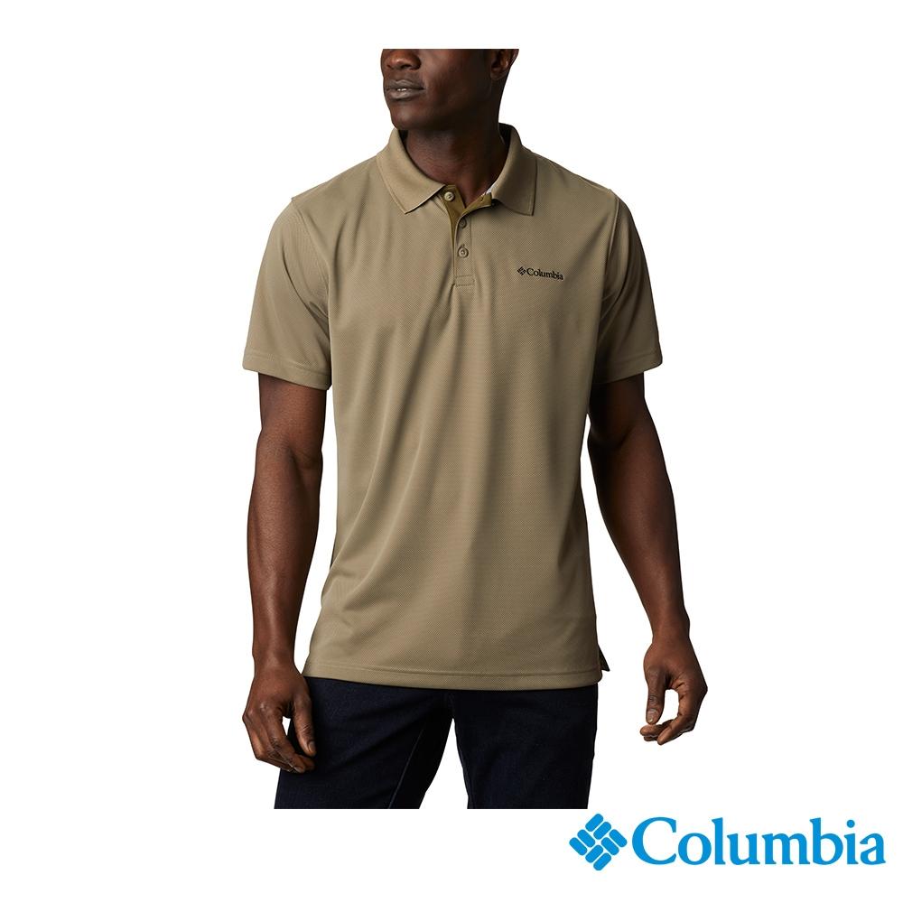 Columbia 哥倫比亞 男款- UPF30快排短袖Polo衫-4色  UAE01260 (軍綠)