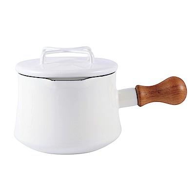 DANSK 琺瑯單耳燉煮鍋13cm(白色)