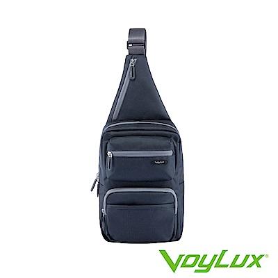 VoyLux 伯勒仕- 魔術收摺系列粗丹尼跨身直式肩背包-灰色3684108