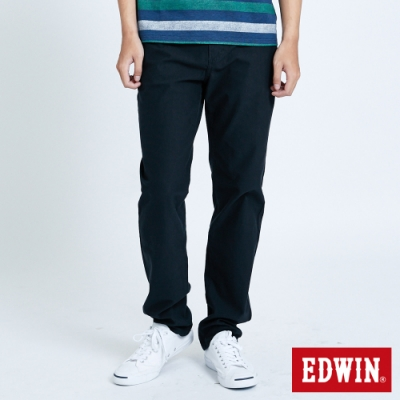 EDWIN JERSEYS 迦績 車織帶AB牛仔褲-男-黑灰色