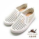 天使童鞋 四方谷洞洞休閒鞋(中-大童)D375-白