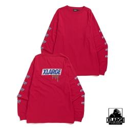 XLARGE L/S TEE STILL HUNGRY長袖T恤-桃紅