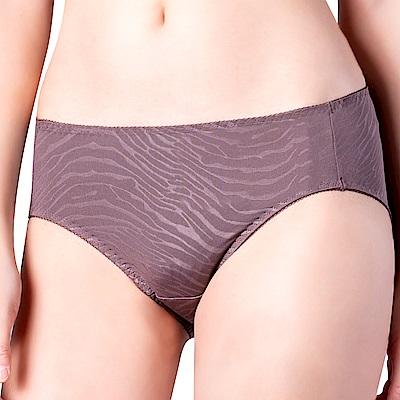 思薇爾 豹紋系列列M-XXL中腰三角內褲(卵石褐)