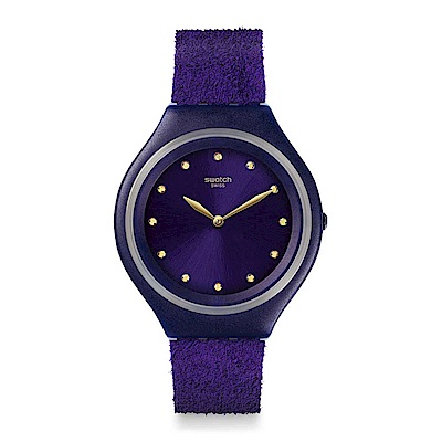 Swatch Deep Wonder系列 SKINVIOLET超薄紫羅蘭手錶
