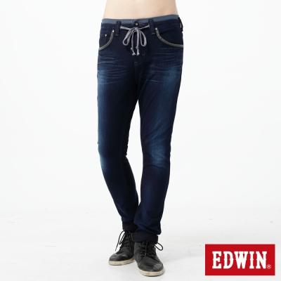 EDWIN 大尺碼 迦績褲CARGO窄直筒牛仔褲-男-酵洗藍