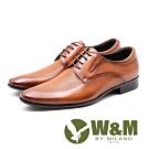 W&M 完美菱紋 紳士綁帶德比鞋 男皮鞋 - 咖(另有黑)