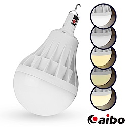 擺攤特選 USB充電智能型 5段光吊掛式LED大燈泡80W(LI-