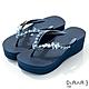 DIANA 6cm 進口波莉水鑽x高密度橡膠夾腳海攤拖鞋-豔夏時尚-深藍 product thumbnail 1