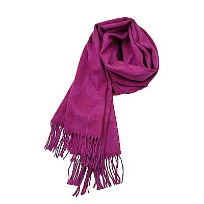 COACH 經典滿版LOGO羊毛混絲披肩圍巾-桃紅色