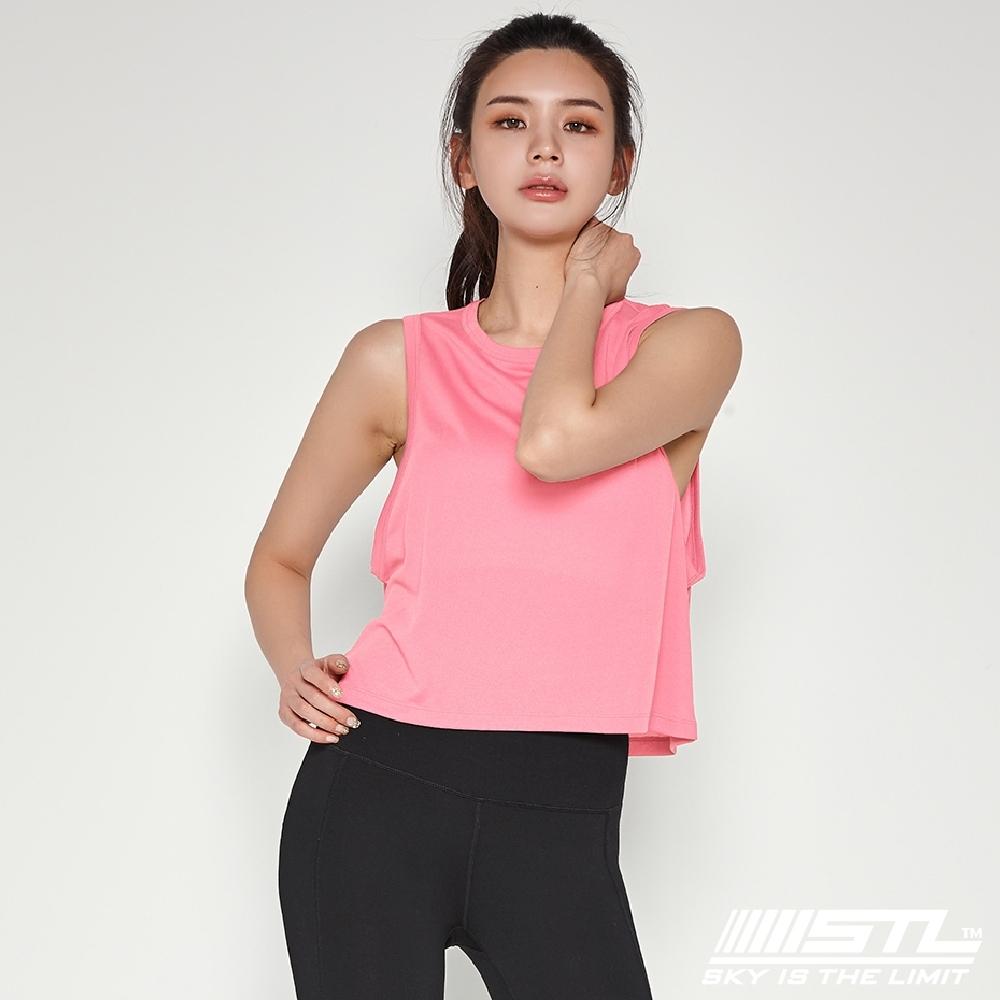 STL Yoga Fresh Crepe Perfect Tank 韓國 戶外運動機能上衣 快速排汗 無袖背心 比基尼外罩/登山/重訓/瑜珈/路跑 珊瑚粉