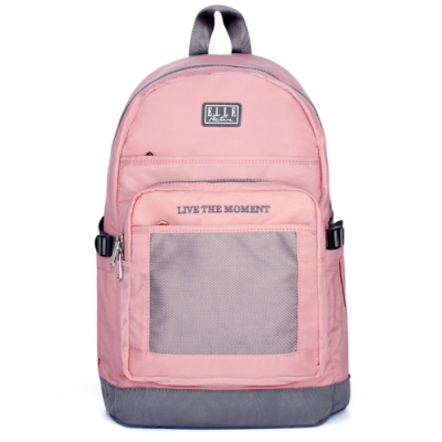 ELLE Active 透視網布系列-後背包-大-粉紅色