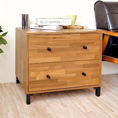 《HOPMA》DIY巧收和風二抽斗櫃-寬60.5 x深40 x高52cm