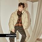 H:CONNECT 韓國品牌 男裝 - 格紋V領針織上衣  - 咖啡