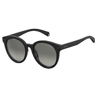 Polaroid PLD 6043/F/S-經典圓框太陽眼鏡 黑色