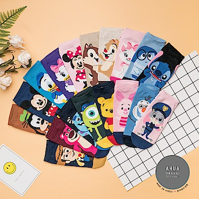 阿華有事嗎 韓國襪子 迪士尼全身短襪 韓妞必備少女襪 正韓百搭純棉襪