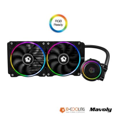 ID-COOLING 高效一體式水冷排 CHROMFLOW 240 炫彩ARPG散熱風扇(附遙控器)