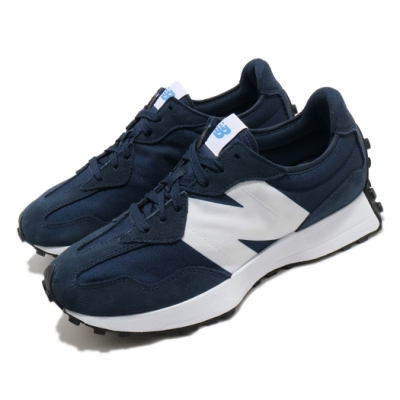 New Balance 休閒鞋 327 復古流行 運動 男女鞋 紐巴倫 舒適 簡約 大N 情侶穿搭 麂皮 藍 白 MS327CPDD