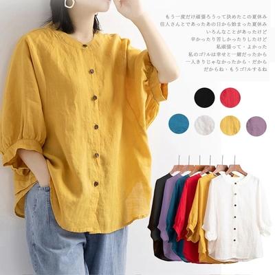 【KISSDIAMOND】文藝風燈籠袖上衣(輕熟女/6色M-2XL/KDT-859B)