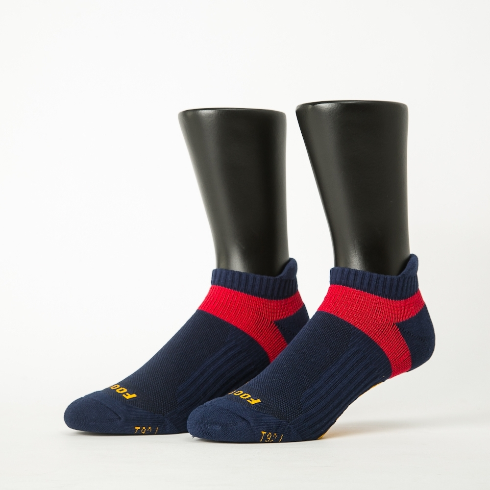 【Footer除臭襪】輕壓力足弓船短襪-六雙入(藍*2+灰*2+黑*2)